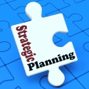 Strategic Planning Showing Organizational Business Solutions Or Goals
