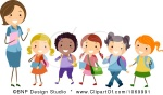 3d2dc-1069991-clipart-female-teacher-and-a-line-of-diverse-stick-students-royalty-free-vector-illustration
