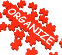 Organize Puzzle Shows Arranging Or Organizing