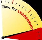 Time For Leadership Message Represents Management And Achievement